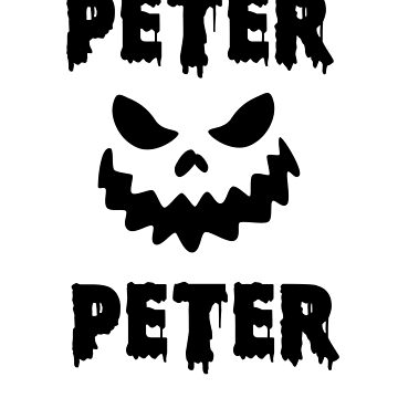 Peter Peter Pumpkin Eater Cool Jack O Lantern Funny Halloween by hlcaldwell