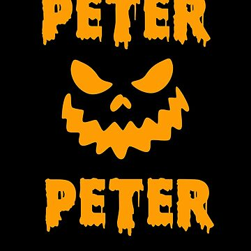 Peter Peter Pumpkin Eater Jack O Lantern Funny Halloween by hlcaldwell
