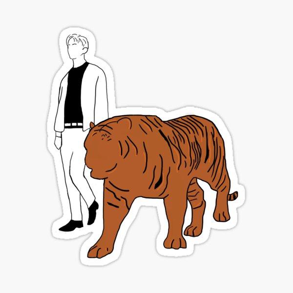mark with tiger (regular mv) Sticker