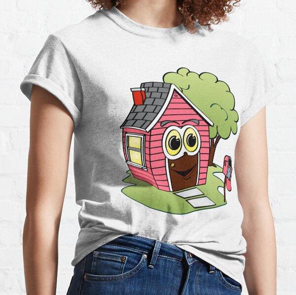 Pink House Cartoon Classic T-Shirt