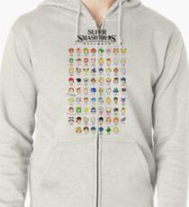 Super Smash Bros. Ultimate (Everyone is Here! design) Zipped Hoodie