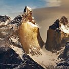 The Golden Horns of Paine, Patagonia, Chile by Robin Whalley