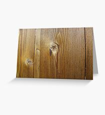 Wood knot on the wall Greeting Card