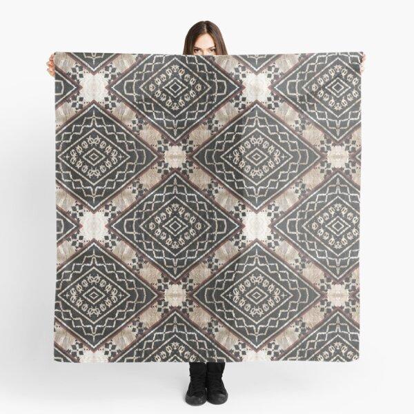 Fijian Tapa Cloth 27 by Hypersphere Scarf