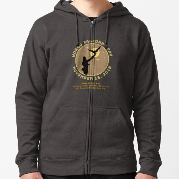 World Falconry Day November 16, 2018  Zipped Hoodie