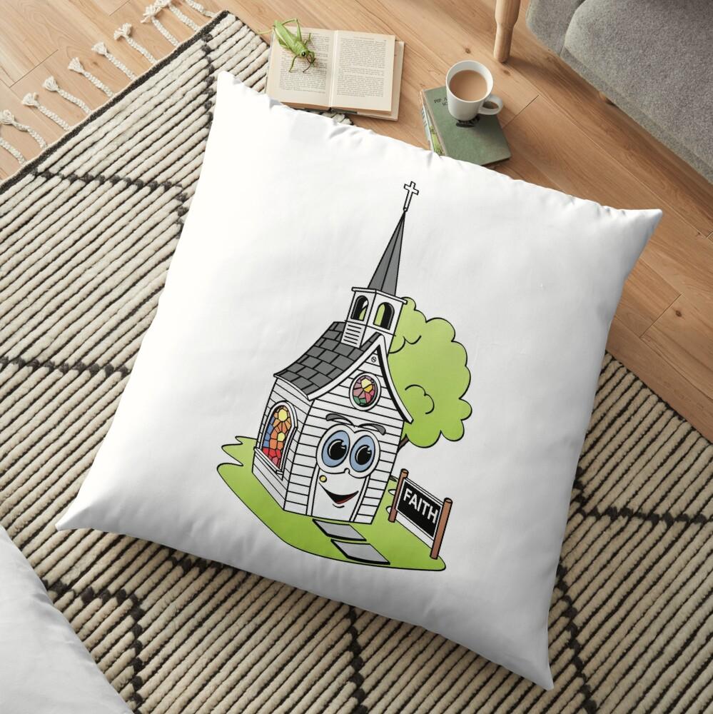 Cartoon Church Cojines de suelo