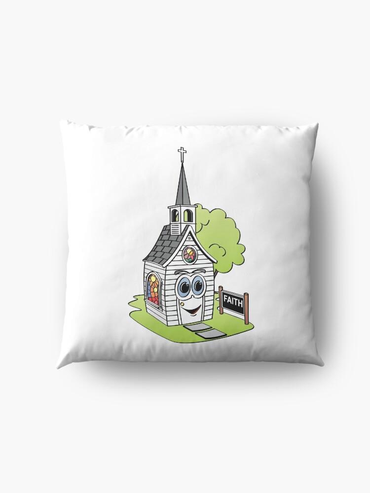 Vista alternativa de Cojines de suelo Cartoon Church