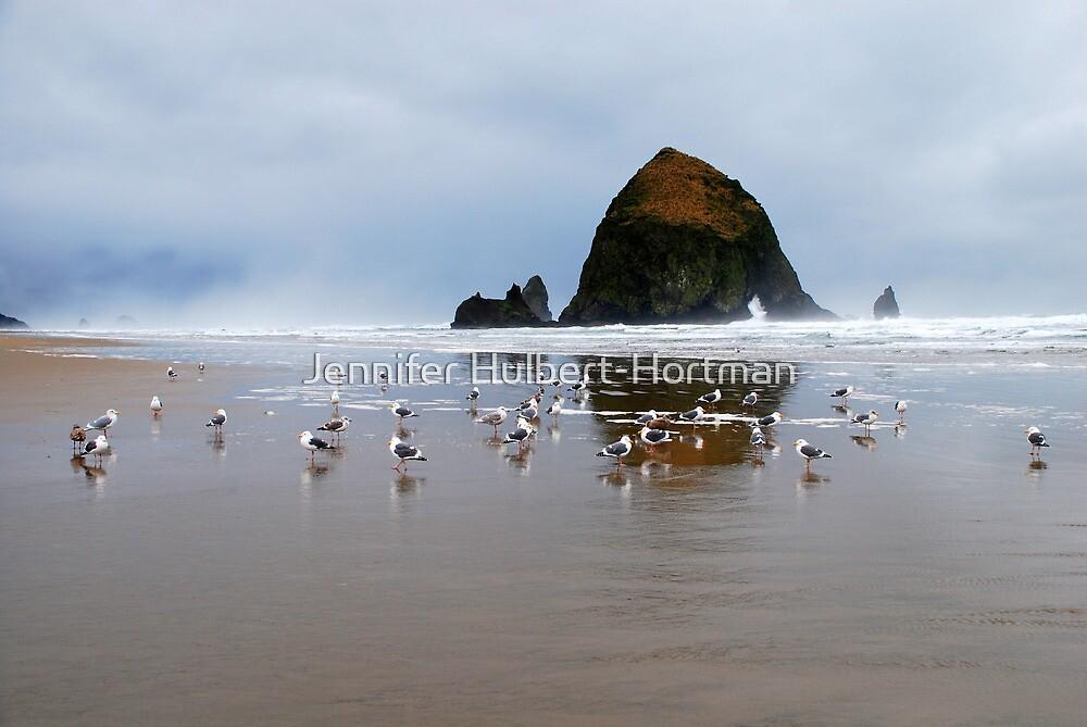 Haystack Rock, Cannon Beach, Or  USA by Jennifer Hulbert-Hortman