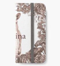 Personalised Name Art Design - Kangaroo iPhone Wallet/Case/Skin