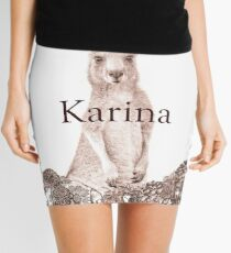 Personalised Name Art Design - Kangaroo Mini Skirt
