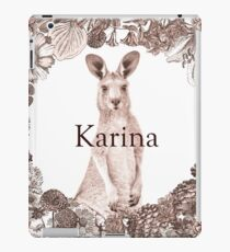 Personalised Name Art Design - Kangaroo iPad Case/Skin