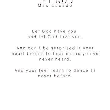 Let God #inspirational #faith #minimalism by andreaanderegg