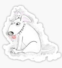 Dog animal glowing Art Sticker