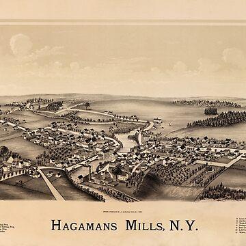 Hagamans Mills (Hagaman), New York (1890) by allhistory