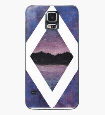 Pink Sunrise Over Mountain Lake Case/Skin for Samsung Galaxy