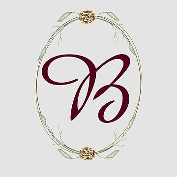 Letter B - autumn forest uppercase Alphabet, Monogram, Watercolor  by ArtOlB