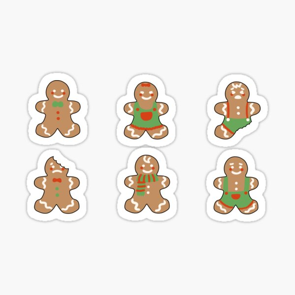 gingerbread pack Sticker