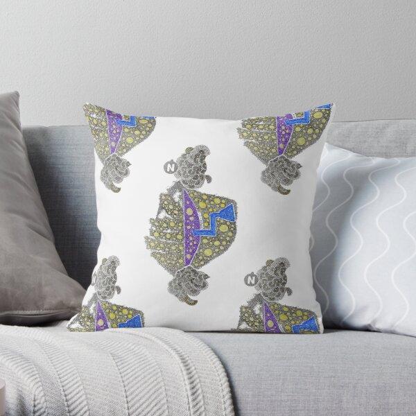 Carrickalinga Map 1 Throw Pillow