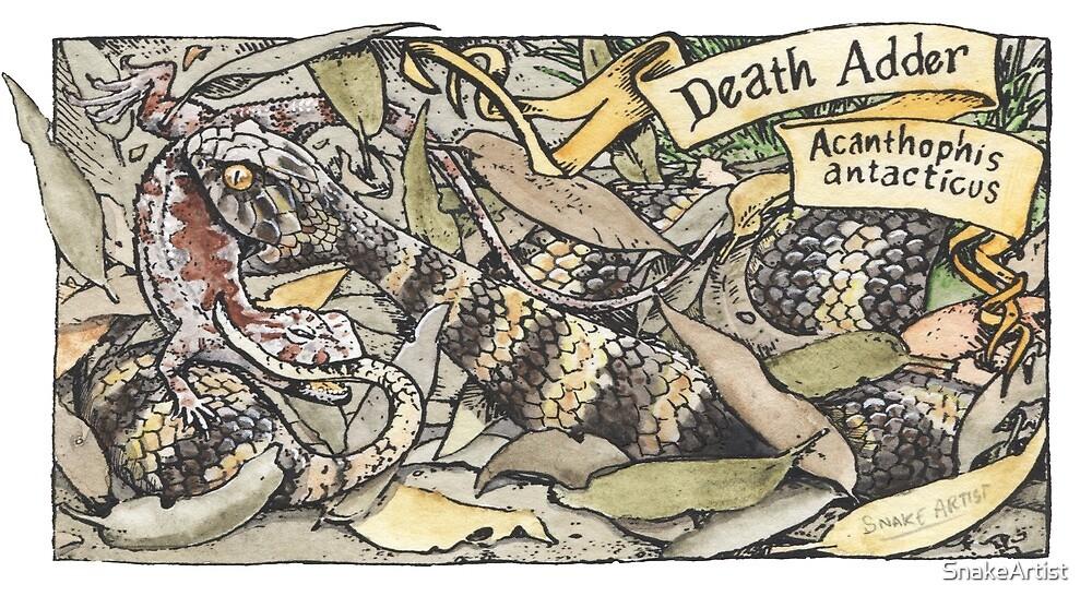 Death adder by SnakeArtist