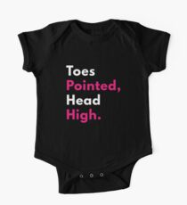 Toes Pointed Head High Funny Ballet Dance Cute One Piece - Short Sleeve