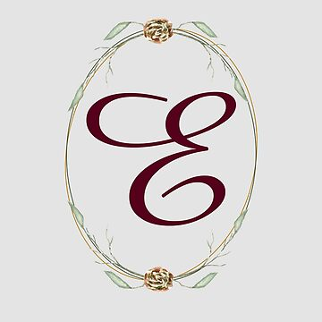 Letter E - autumn forest uppercase Alphabet, Monogram, Watercolor  by ArtOlB