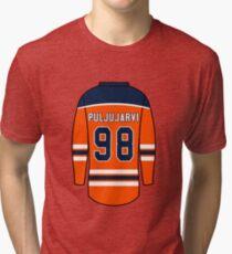 Jesse Puljujarvi Jersey Tri-blend T-Shirt 1e1e70d4f