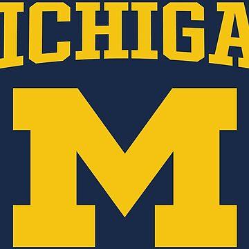 Michigan Sport Block M by Chocodole