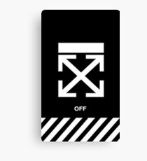 Black off White Case Canvas Print