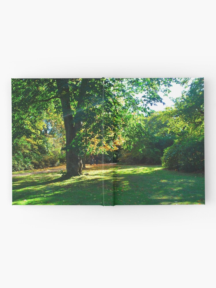 Alternate view of Garden with shades of light in autumn fall Hardcover Journal