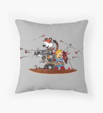 Calvin and Hobbes Inspired Captain and Soldier Parody Floor Pillow