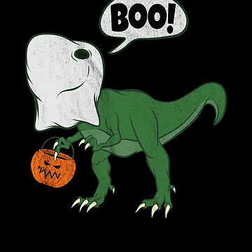Halloween Dinosaur T Rex Ghost Costume Cute Dino Jack o lantern Bucket by zot717