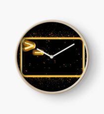 Bash terminal golden Gold Clock