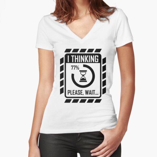 I'm Thinking - Gamer II Fitted V-Neck T-Shirt