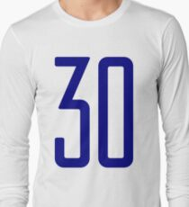 Tall blue number 30 Long Sleeve T-Shirt