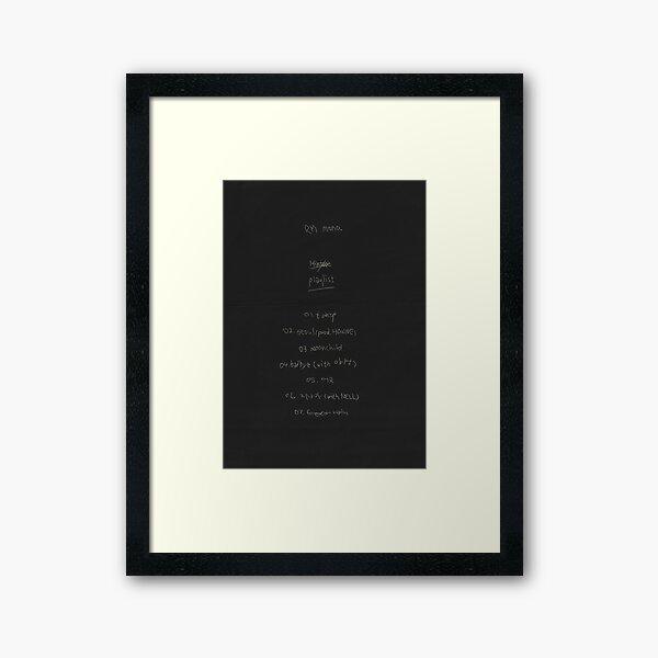 RM Mono Framed Art Print