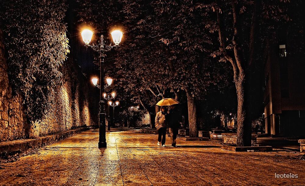 Alongside de Wall in the Rain by leoteles