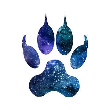 Dog Paw Print by GwendolynFrost