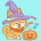 Shiba Mocca Halloween Witch by Kho Tek Mei