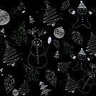 christmassy (b&w) by monicamarcov