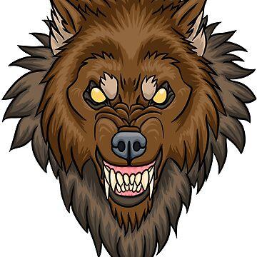 Hombre lobo salvaje de Hareguizer