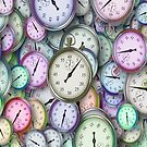 Time Pieces in Blue, Green, Pink, Purple by SherDigiScraps