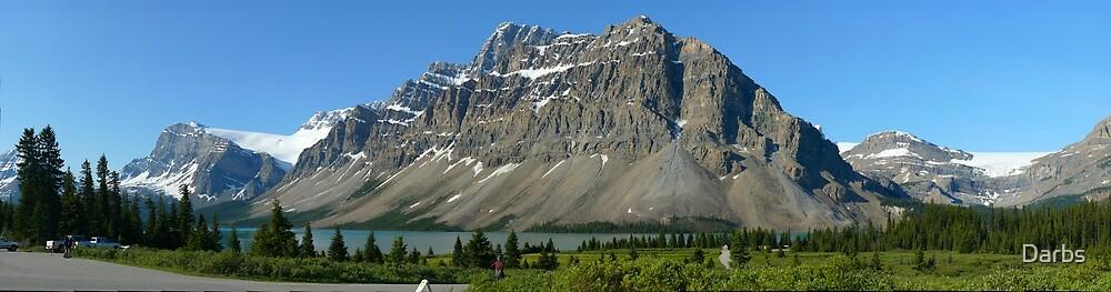 Bow Lake 25, Crowfoot Mountain...a GigaPan panorama by Darbs