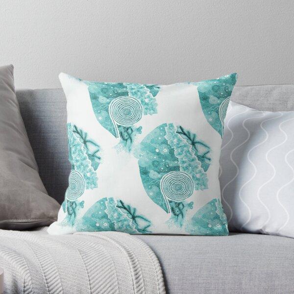 Carrickalinga Sands Aqua Throw Pillow