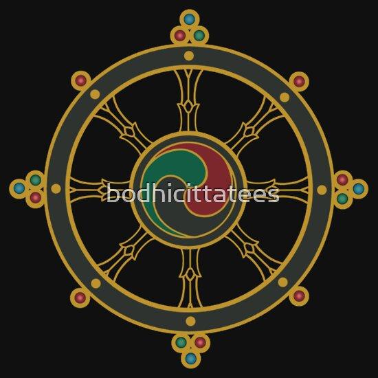 TShirtGifter presents: Buddhist Wheel of Dharma