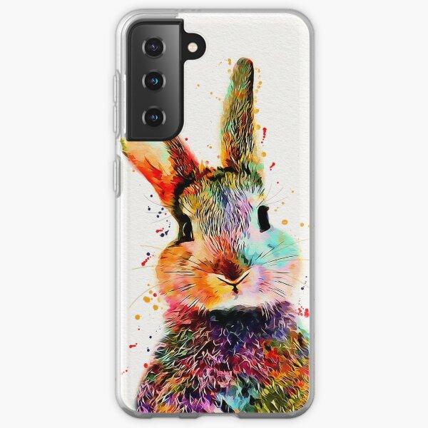 Rabbit Watercolor Art Work  Samsung Galaxy Soft Case