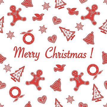 Seamless pattern with christmas, new year symbols. by aquamarine-p