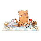 Octopus bear picnic  by Lavinia Knight
