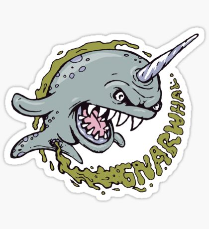 the gnarwhal Sticker