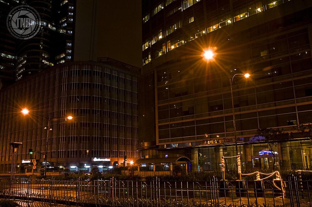 Ayala Avenue @ Night by jhayzapi
