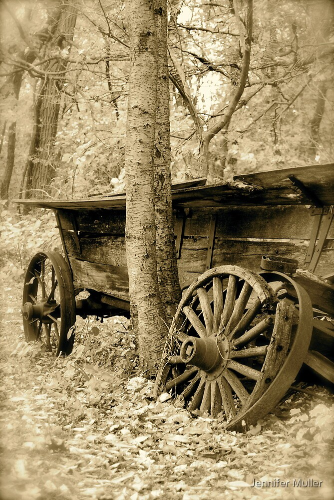 broken down wagon by Jennifer Muller